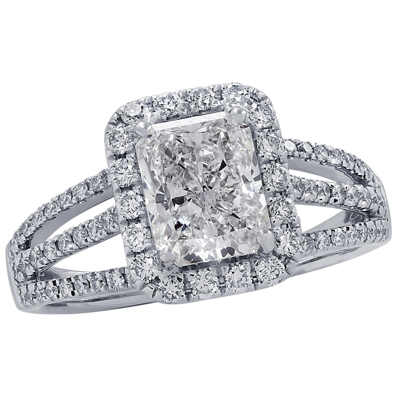 Vivid Diamonds 1.51 Carat Diamond Engagement Ring