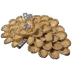 1960's Diamond Gold Brooch