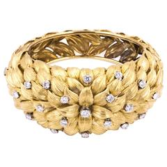 Diamond Gold Petals  Bracelet
