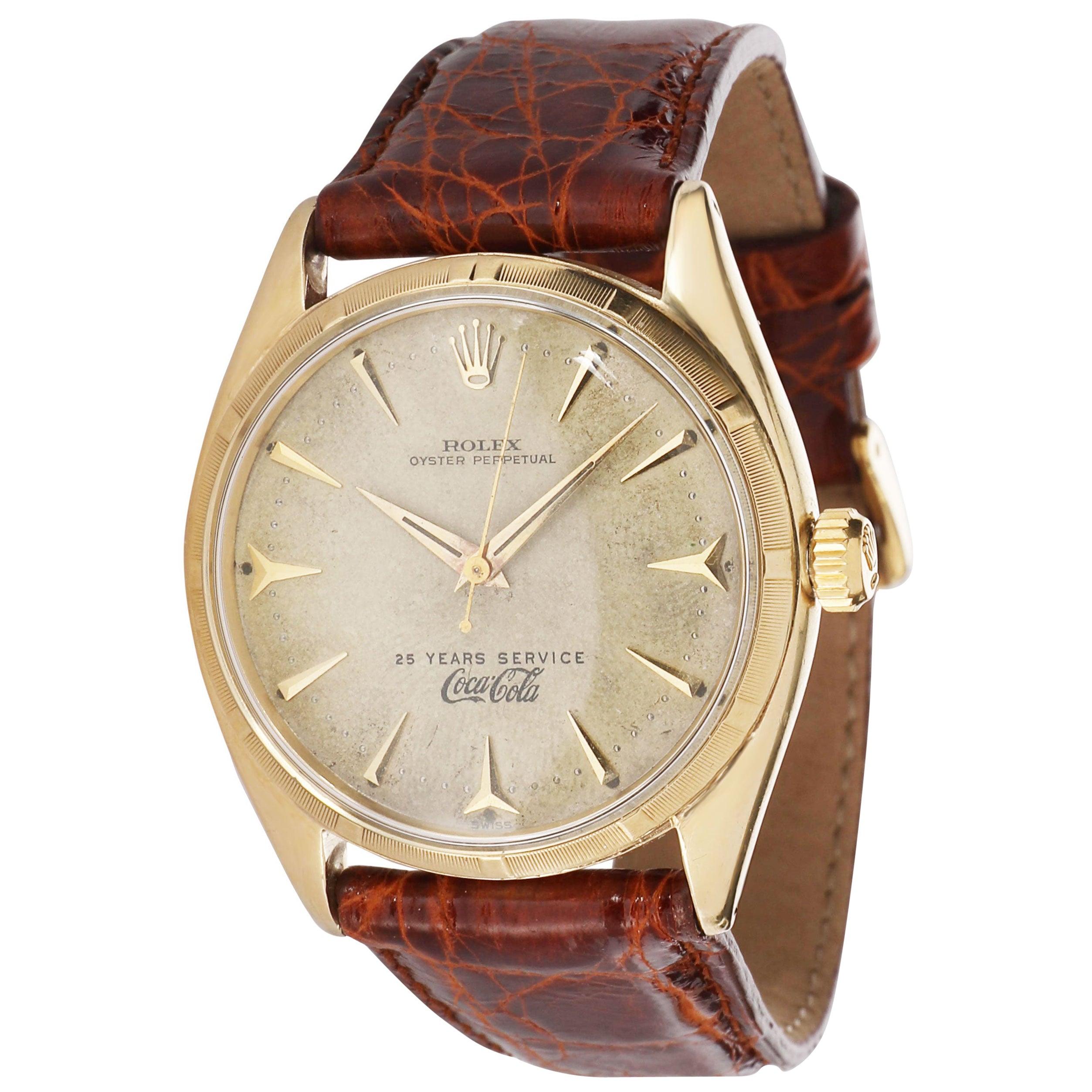 Rolex Oyster Perpetual 6565 Men's Watch in 14 Karat Yellow Gold