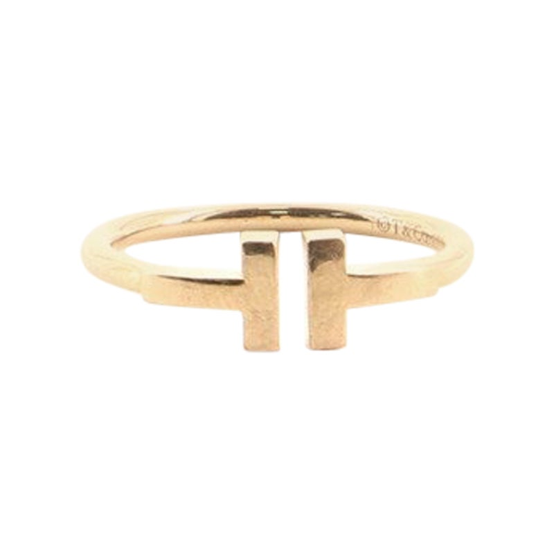 Tiffany & Co. T Wire Ring 18 Karat Rose Gold