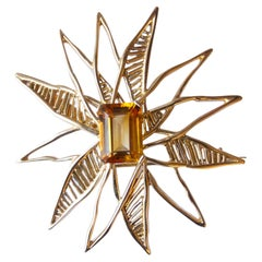 1963 Georges Braque citrine Gold Helios Brooch