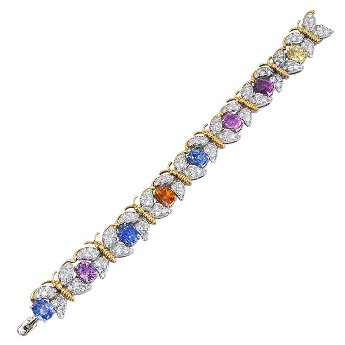 Tiffany & Co. Multi-Color Sapphire, Diamond Bracelet