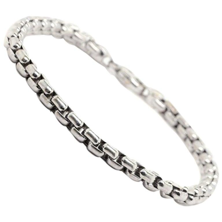 Tiffany & Co. Germany Men's 18 Karat White Gold Bracelet