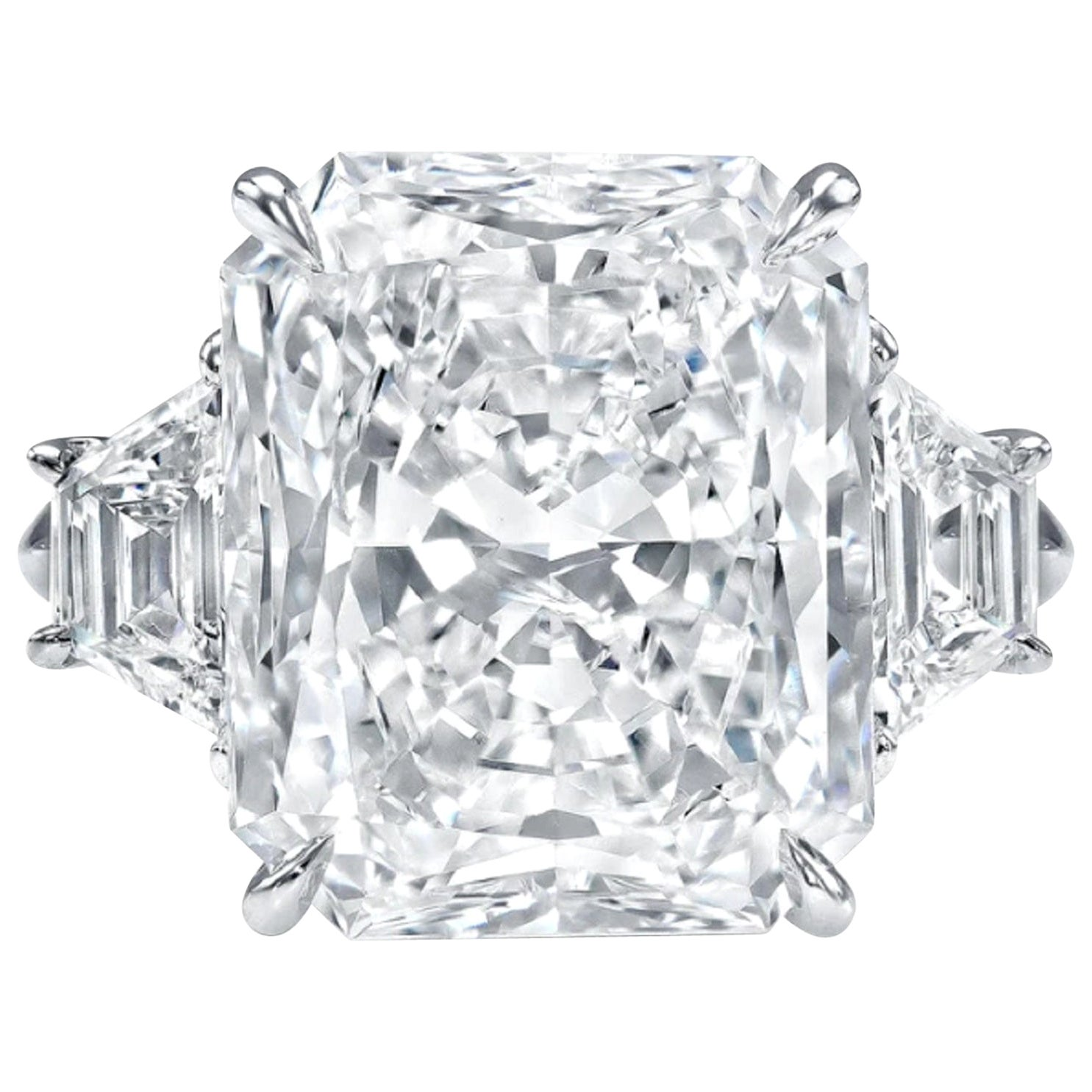 GIA Certified 2.25 Carat Radiant Cut Diamond Ring VS2 Clarity D Color Triple Ex