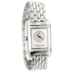 Jaeger LeCoultre Stainless Steel Diamond Wristwatch Model 1859083
