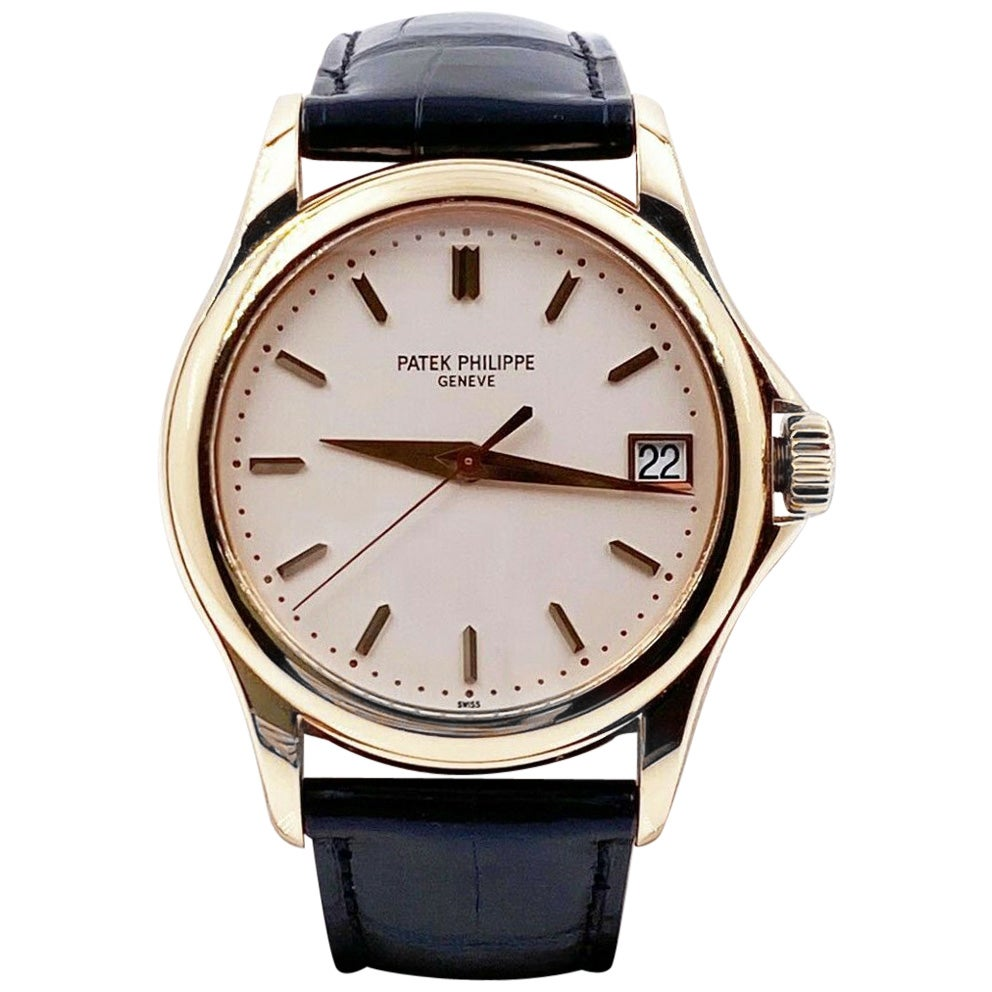 Patek Philippe 5127R Calatrava 18 Karat Rose Gold Box and Papers