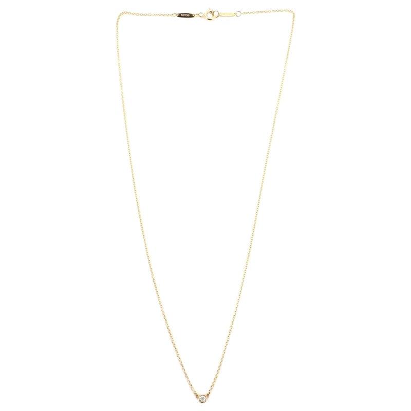 Tiffany & Co. Elsa Peretti Diamonds by the Yard Pendant Necklace 18 Karat Gold