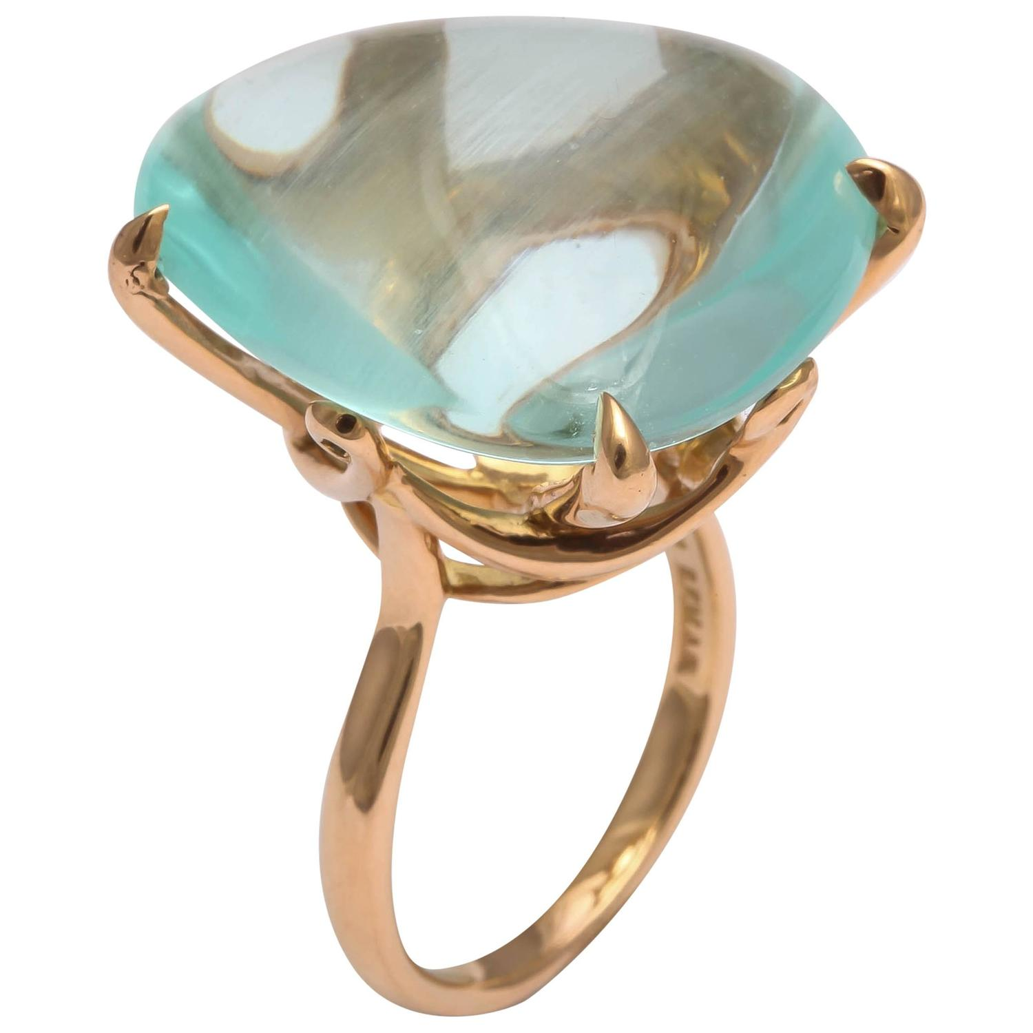 faraone mennella aquamarine gold ring for sale at 1stdibs