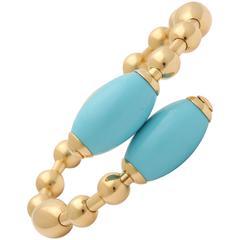 Faraone Mennella Turquoise Gold Tuka Tuka Bracelet