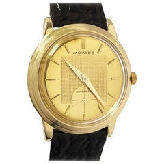Vintage Movado Kingmatic Yellow Gold Automatic Wristwatch