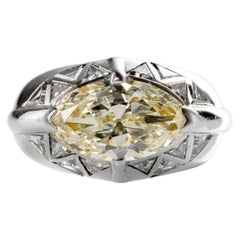Men's Diamond Ring 4.75 Carat Midcentury