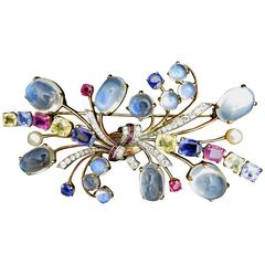 Raymond Yard Gemstone Brooch