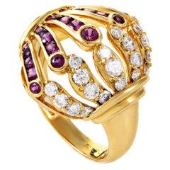 Mouawad Pink Sapphire Diamond Gold Ring
