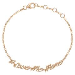 Valentin Magro Bracelet, I Love Me More, in 18 Karat Pink Gold