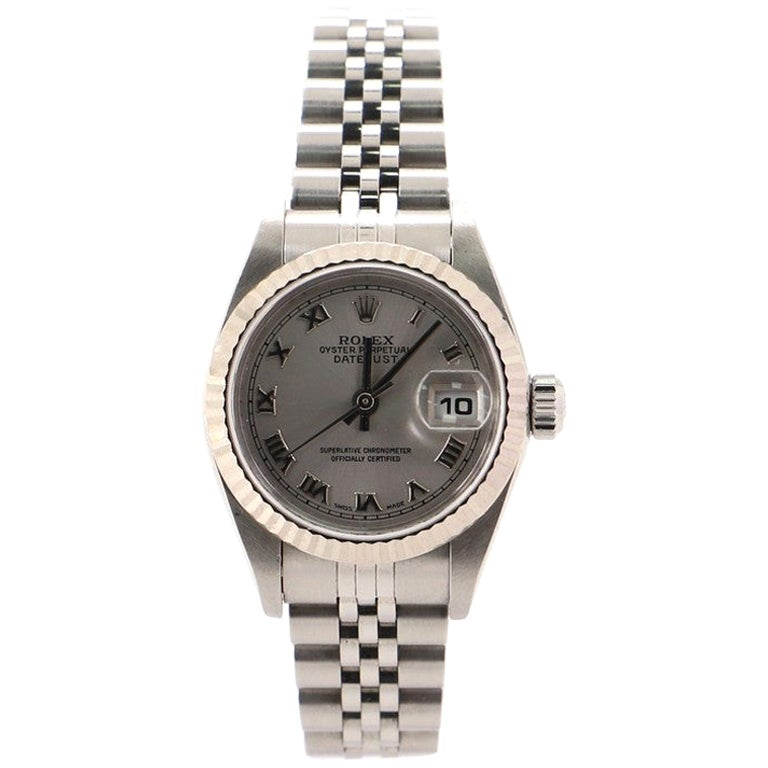 Rolex Oyster Perpetual Datejust Automatic Watch Stainless Steel and White Gold