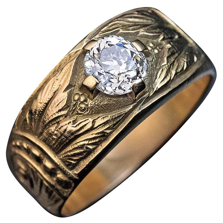 antique nouveau gold s ring at 1stdibs
