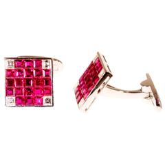 Invisibly Set Ruby Cufflinks