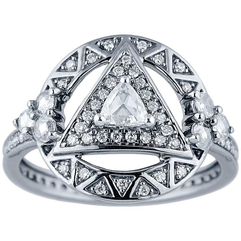 Jade Jagger Trillion Diamond Ring