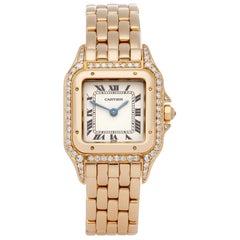 Cartier Panthère 866919 Ladies Yellow Gold Factory Diamonds Watch