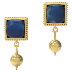 22 Karat Gold Dangle Earrings by Romae Jewelry Inspired by Ancient Roman Designs