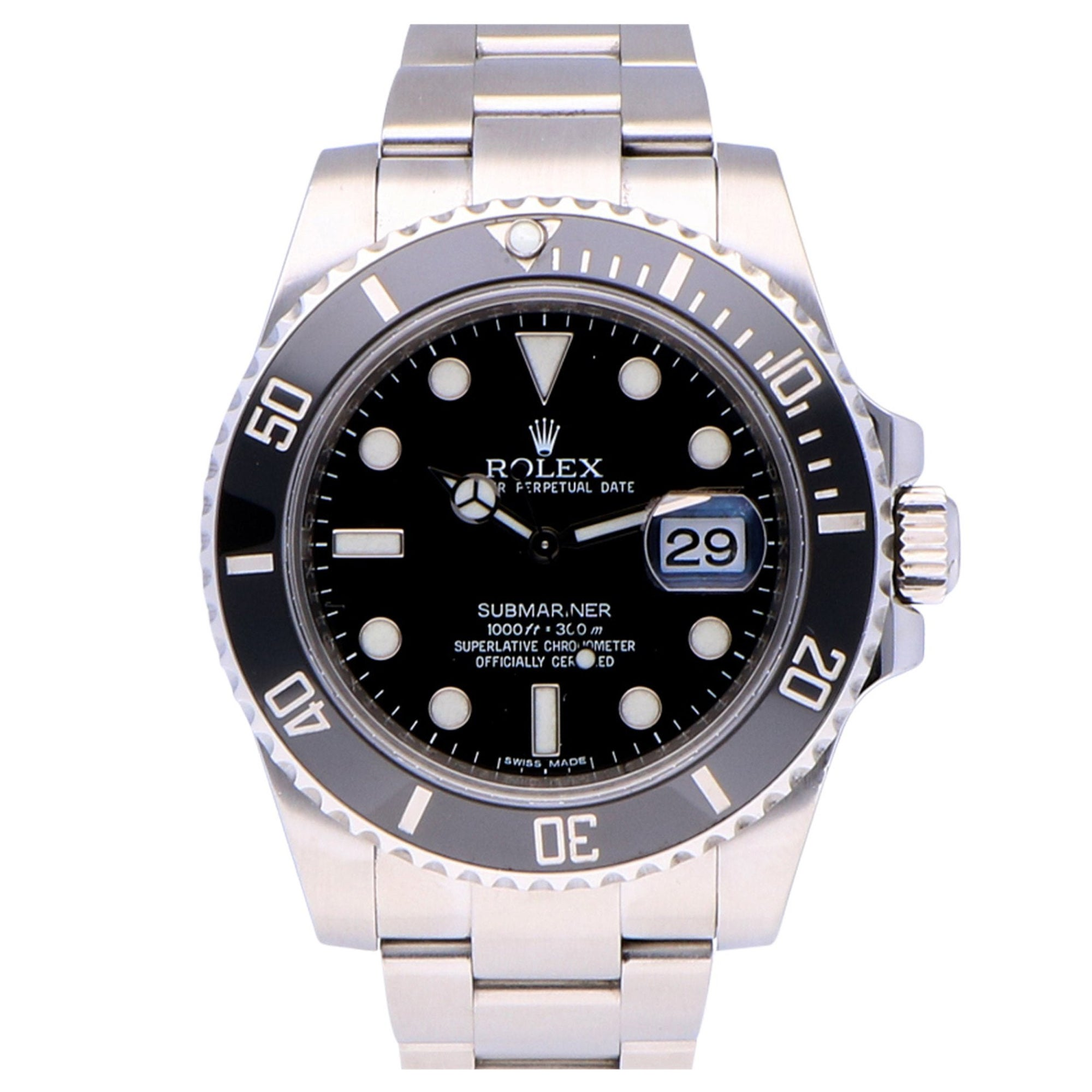 Pre-Owned Rolex Submariner Date Stainless Steel 116610ln Watch