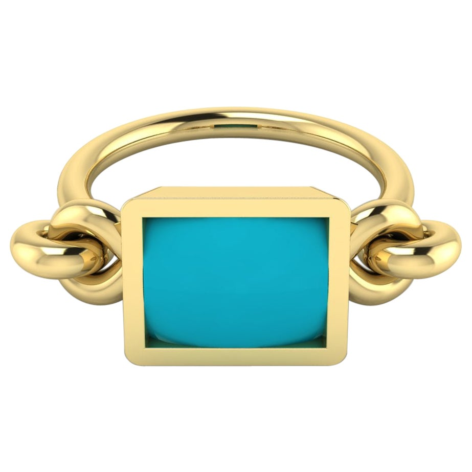 22 Karat Gold Cabochon Ring by Romae Jewelry Inspired by Ancient Roman Examples
