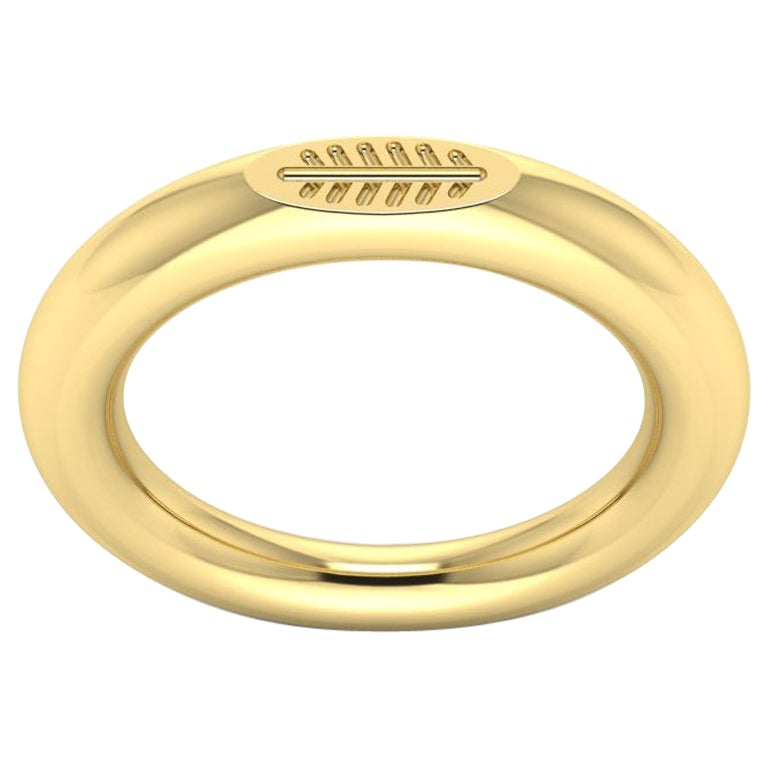 22 Karat Solid Gold Leaf Ring by Romae Jewelry Inspired by Ancient Roman Designs