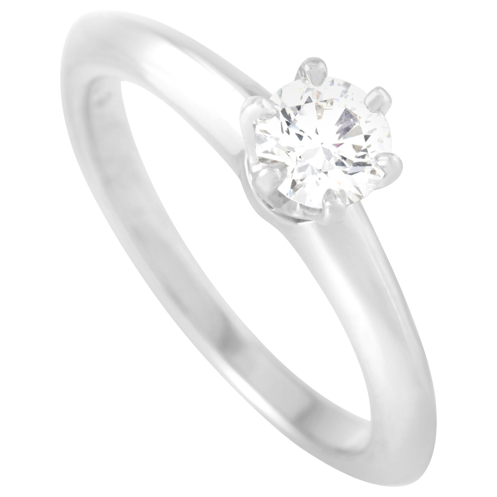 Tiffany & Co. Platinum 0.31 Carat Diamond Solitaire Ring