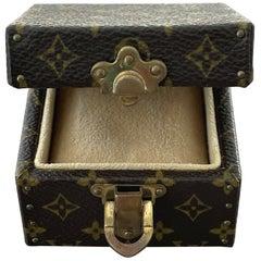 Authentic Louis Vuitton LV Logo Monogram Jewelry Hard Case