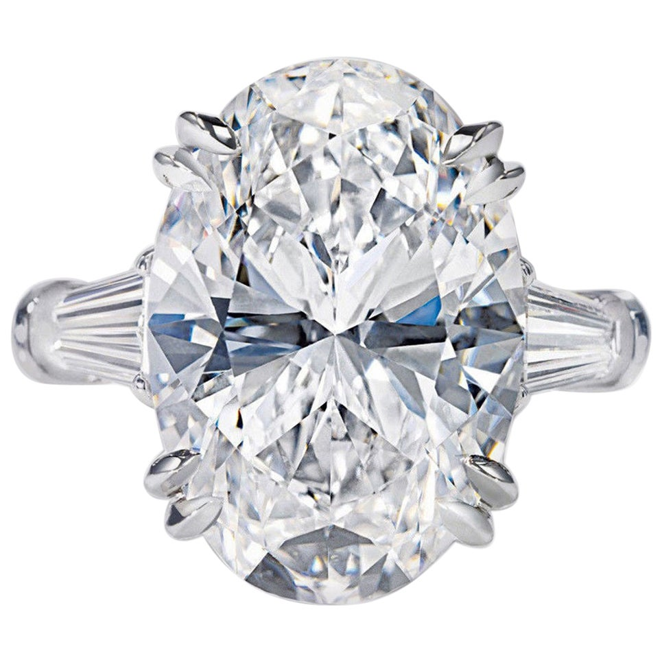 GIA Certified 2.50 Carat Oval Baguette Diamond Ring