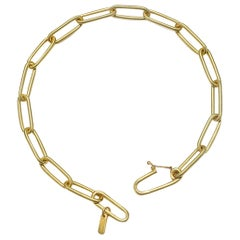 Faye Kim 18k Gold Handmade Paper Clip Chain Bracelet