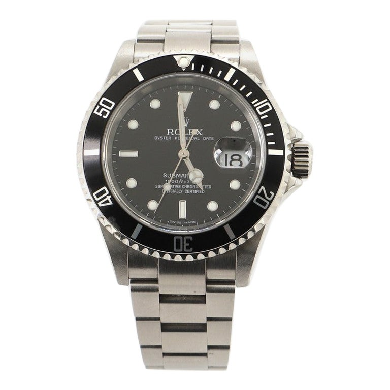 Rolex Oyster Perpetual Submariner Date Automatic Watch Stainless Steel 40