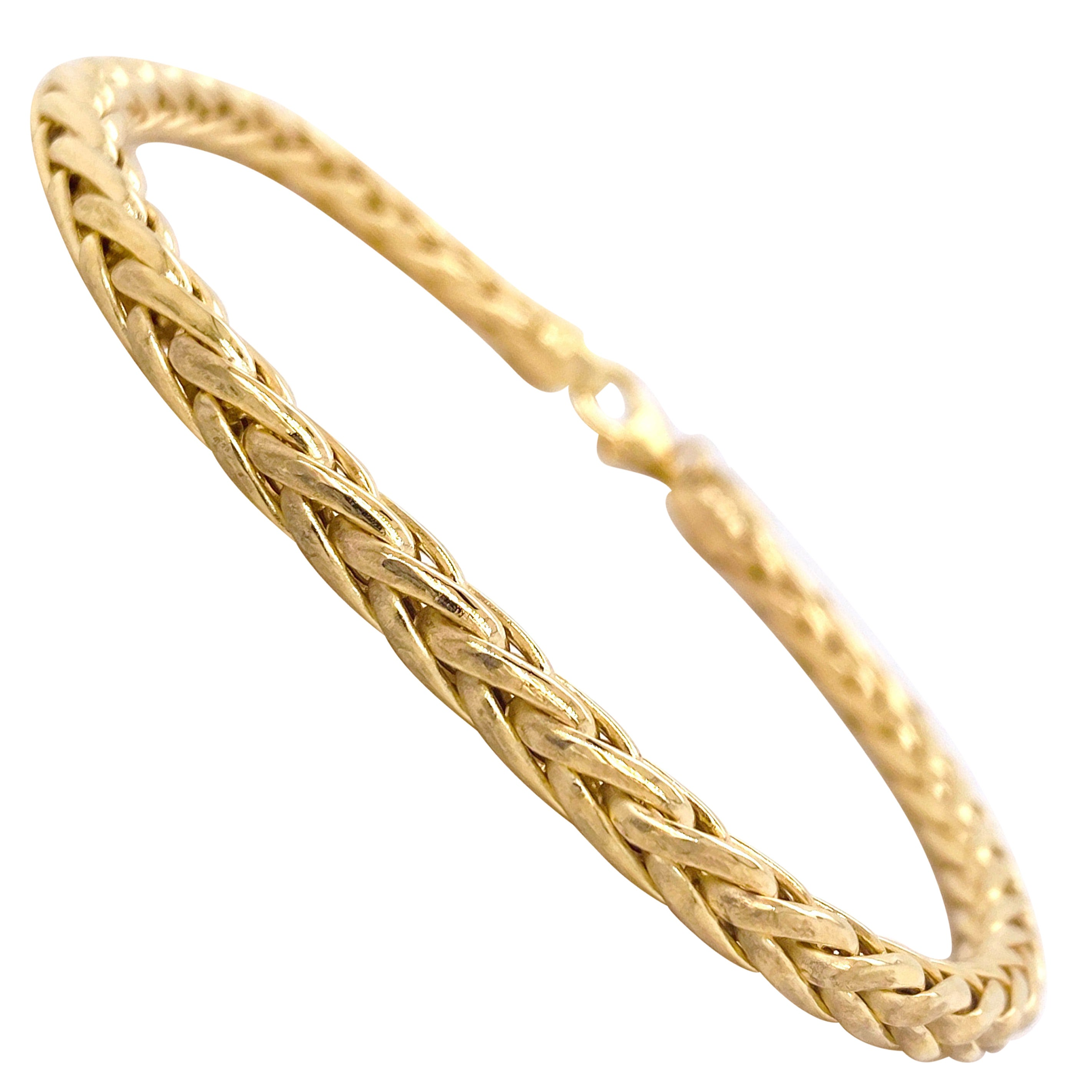 Wheat Chain Bracelet 14 Karat Yellow Gold Men's or Women's Chain Bracelet, 9gm