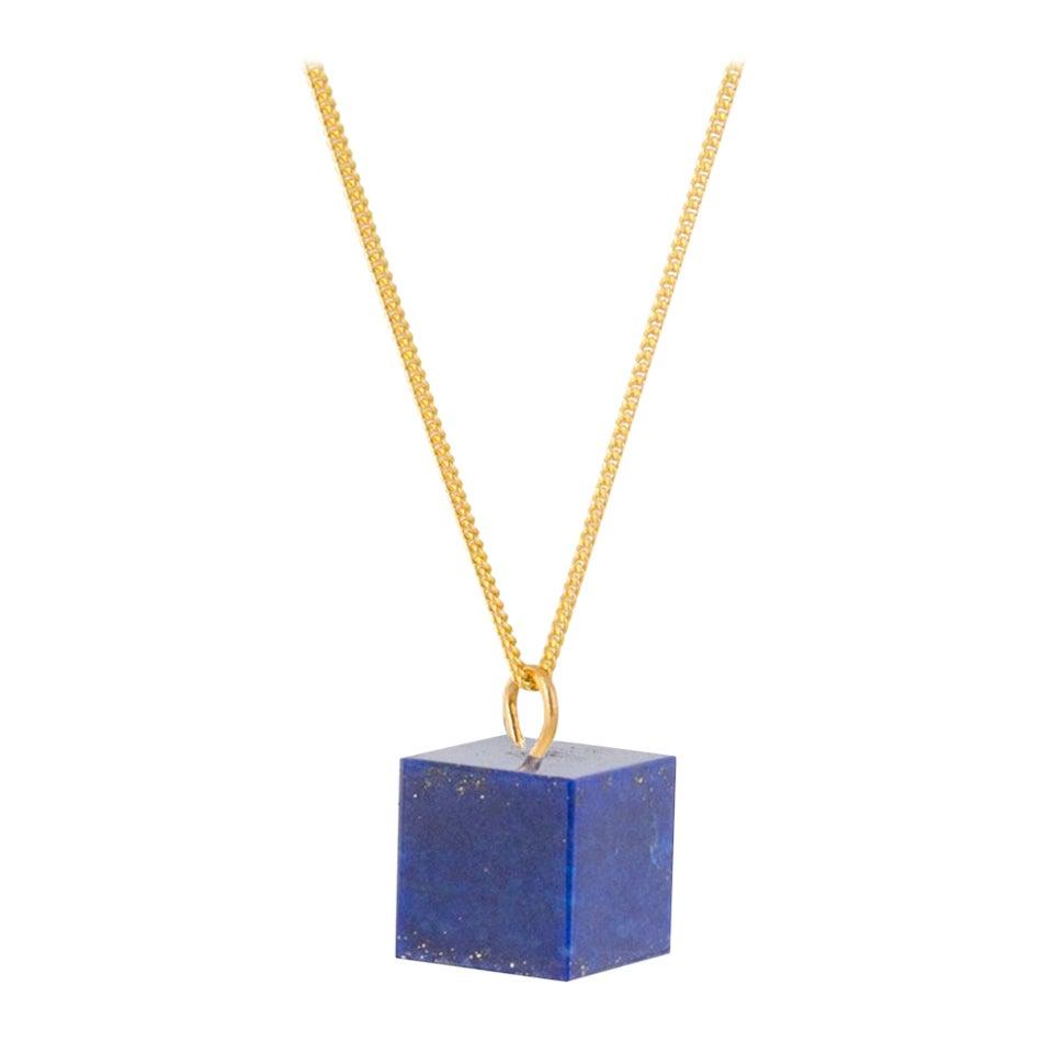 Lapis Lazuli and 9 Karat Gold Necklace