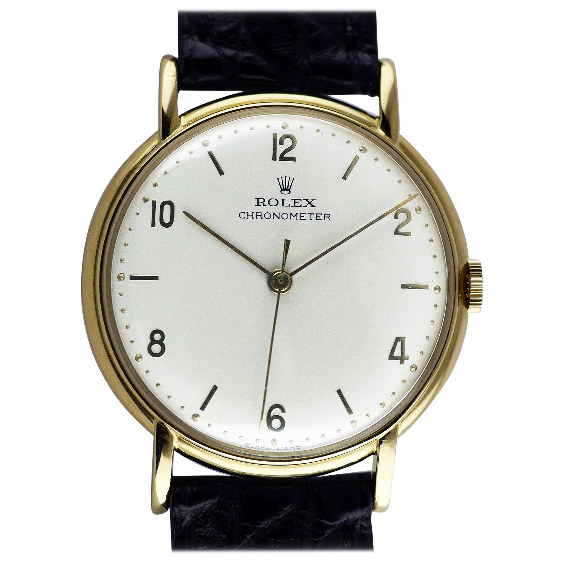 Rolex Precision Gold Wristwatch, 1948
