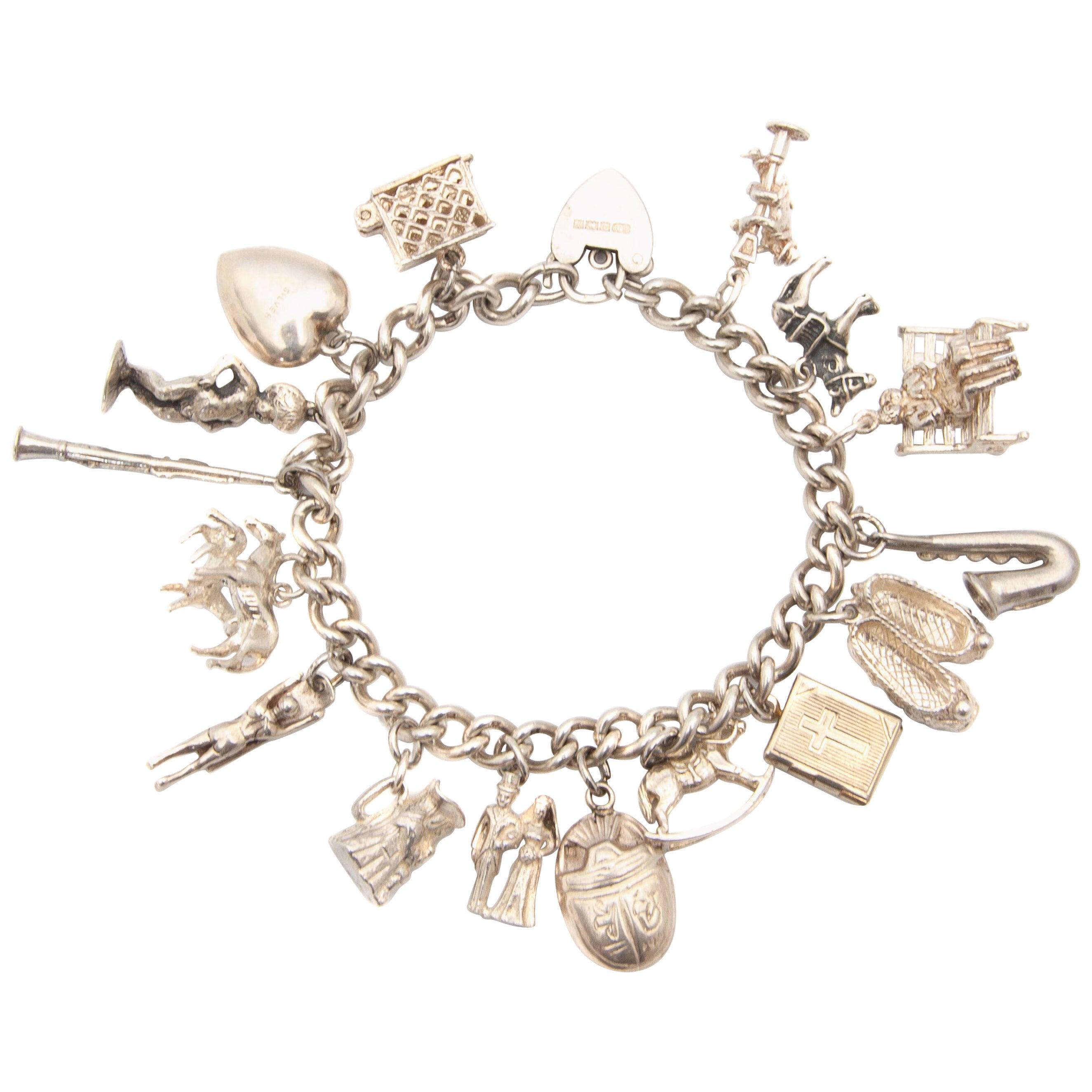 Charm Bracelet Sterling Silver 925