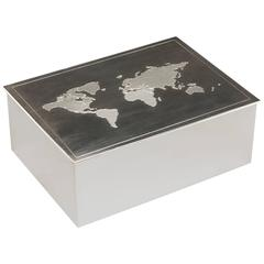 Tiffany & Co. Sterling Silver World Box