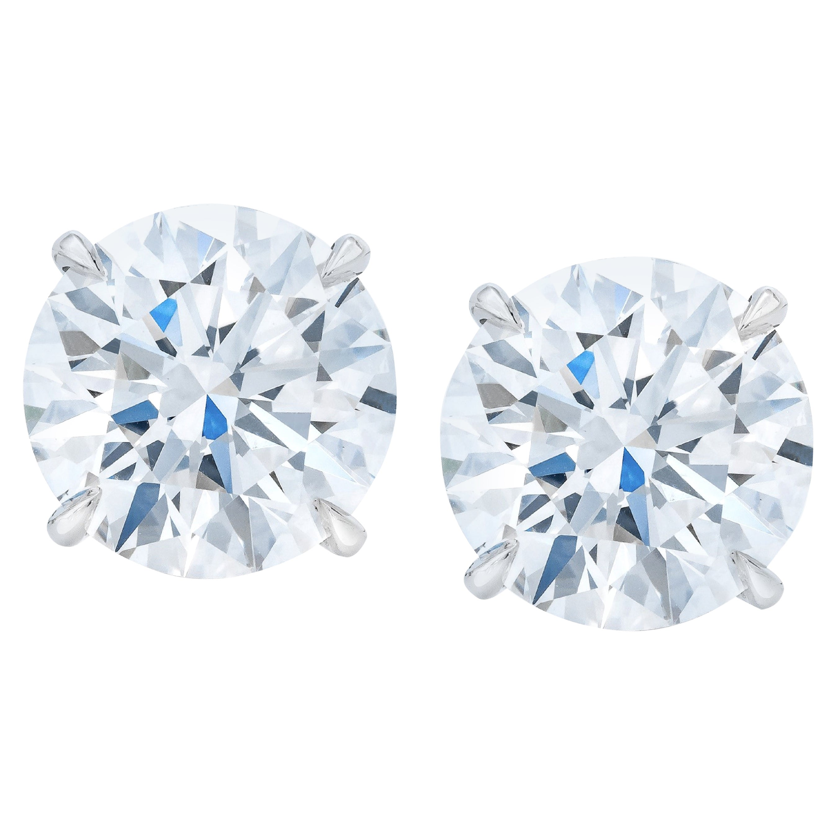 GIA Certified 6.02 Carat VS Clarity E/F Color Round Brilliant Cut Diamonds