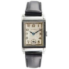 Rolex Steel Dress Wristwatch, Ref 2536, Circa 1928