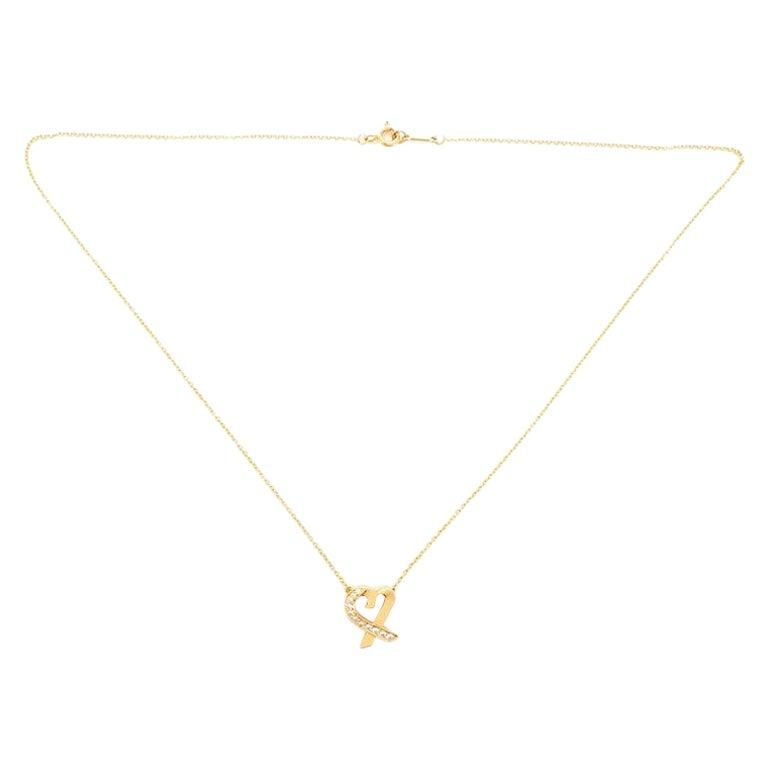 Tiffany & Co. Paloma Picasso Loving Heart Pendant Necklace 18 Karat Yellow Gold