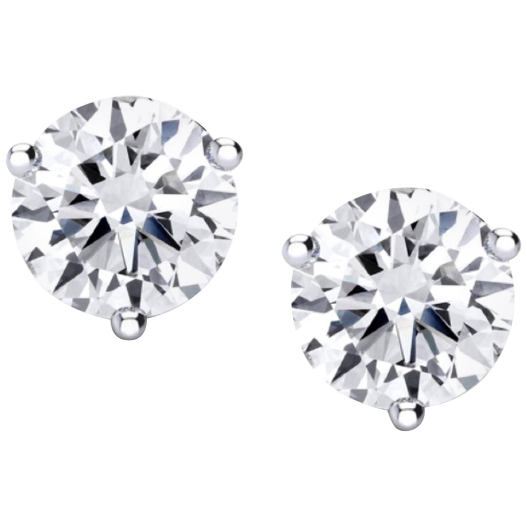 Internally Flawless  GIA Certified 4.61 Carat Certified Diamond Studs