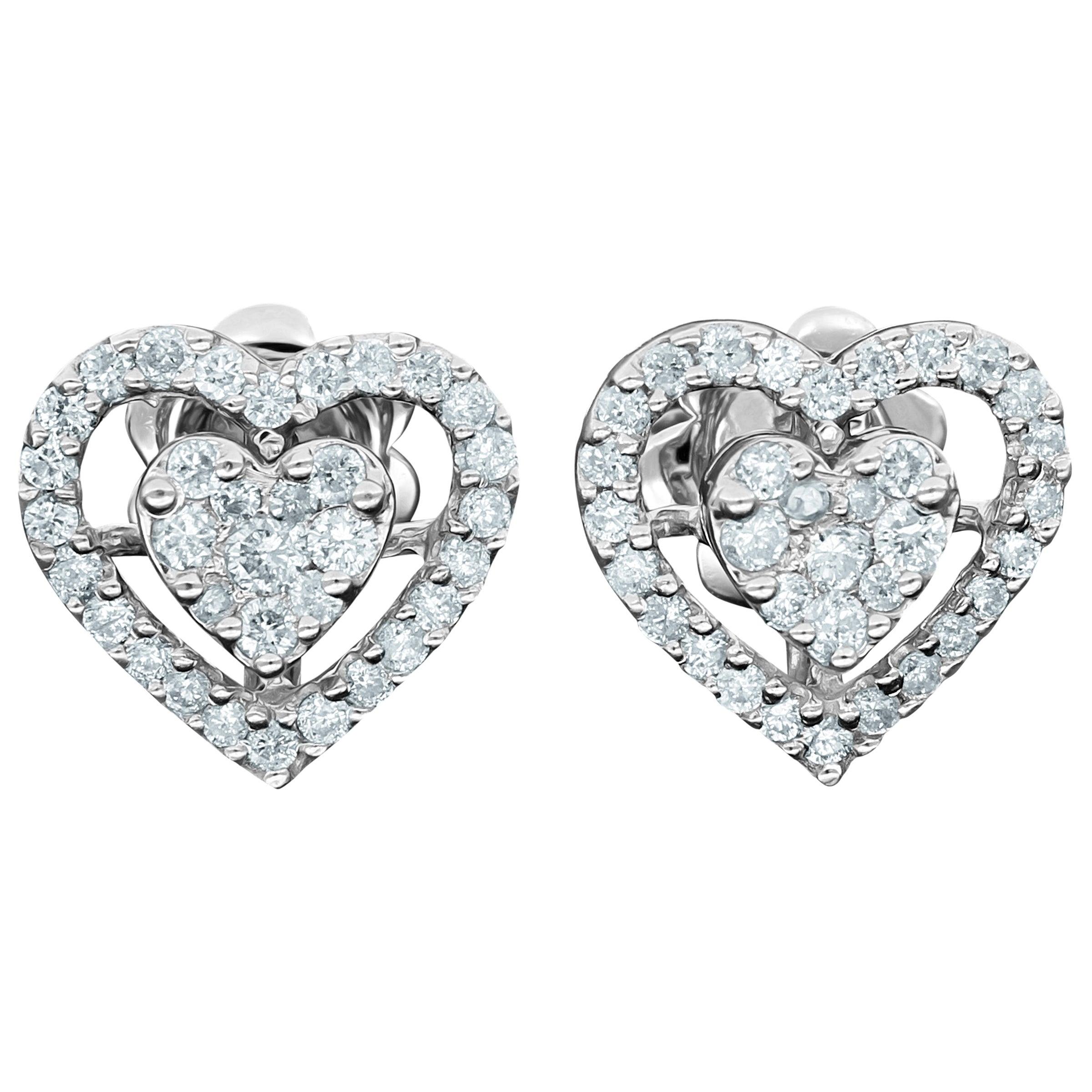 Amwaj White Gold 18 Karat Earring with Diamonds