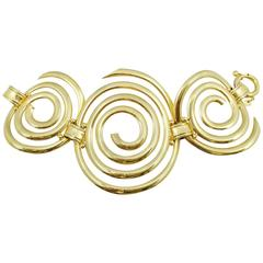 Contemporary Gold Swirls Bracelet