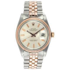 Rolex rose gold stainless steel DateJust Wristwatch Ref 1601