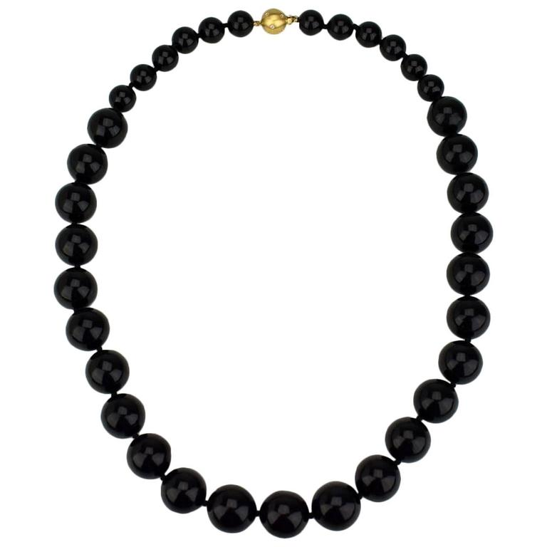 1980s black coral bead necklace at 1stdibs