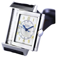 Le Coultre Reverso, Art Deco, Stainless Steel, circa 1934