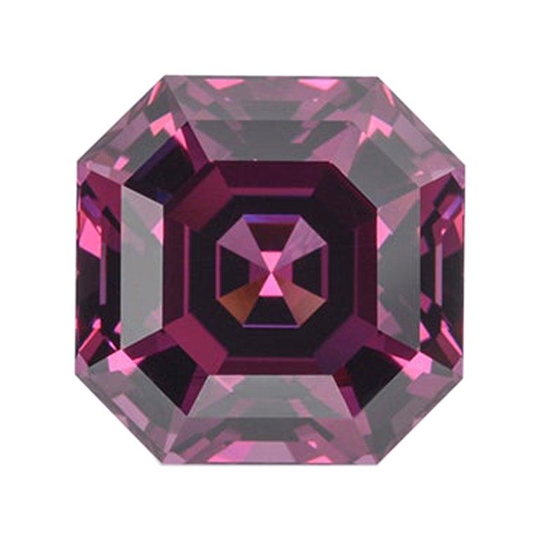 Rhodolite Garnet Ring Gem 7.14 Carat Unset Square Octagon Loose Gemstone