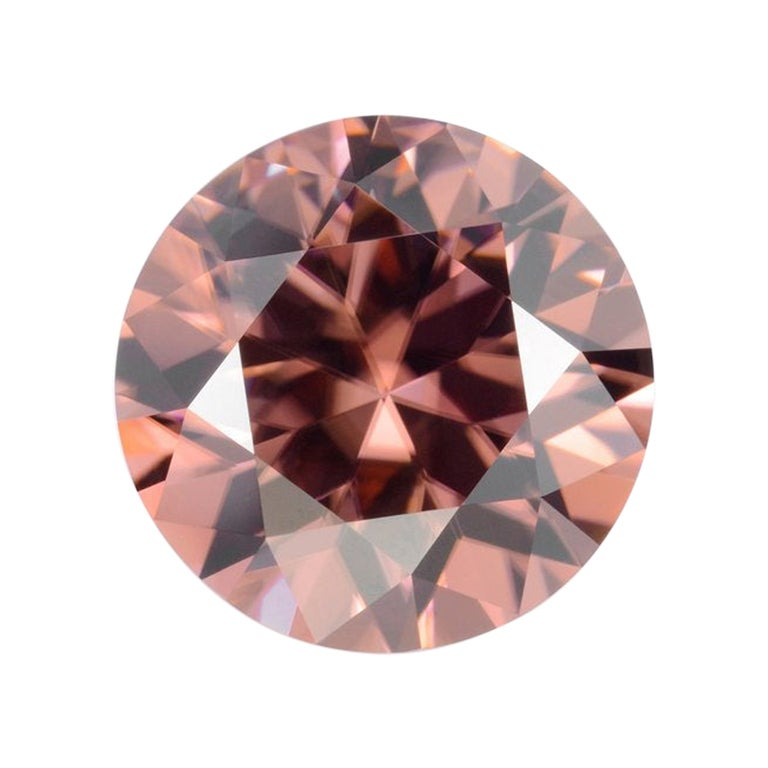 Terracotta Zircon Ring Gem 4.80 Carat Unset Round Loose Gemstone