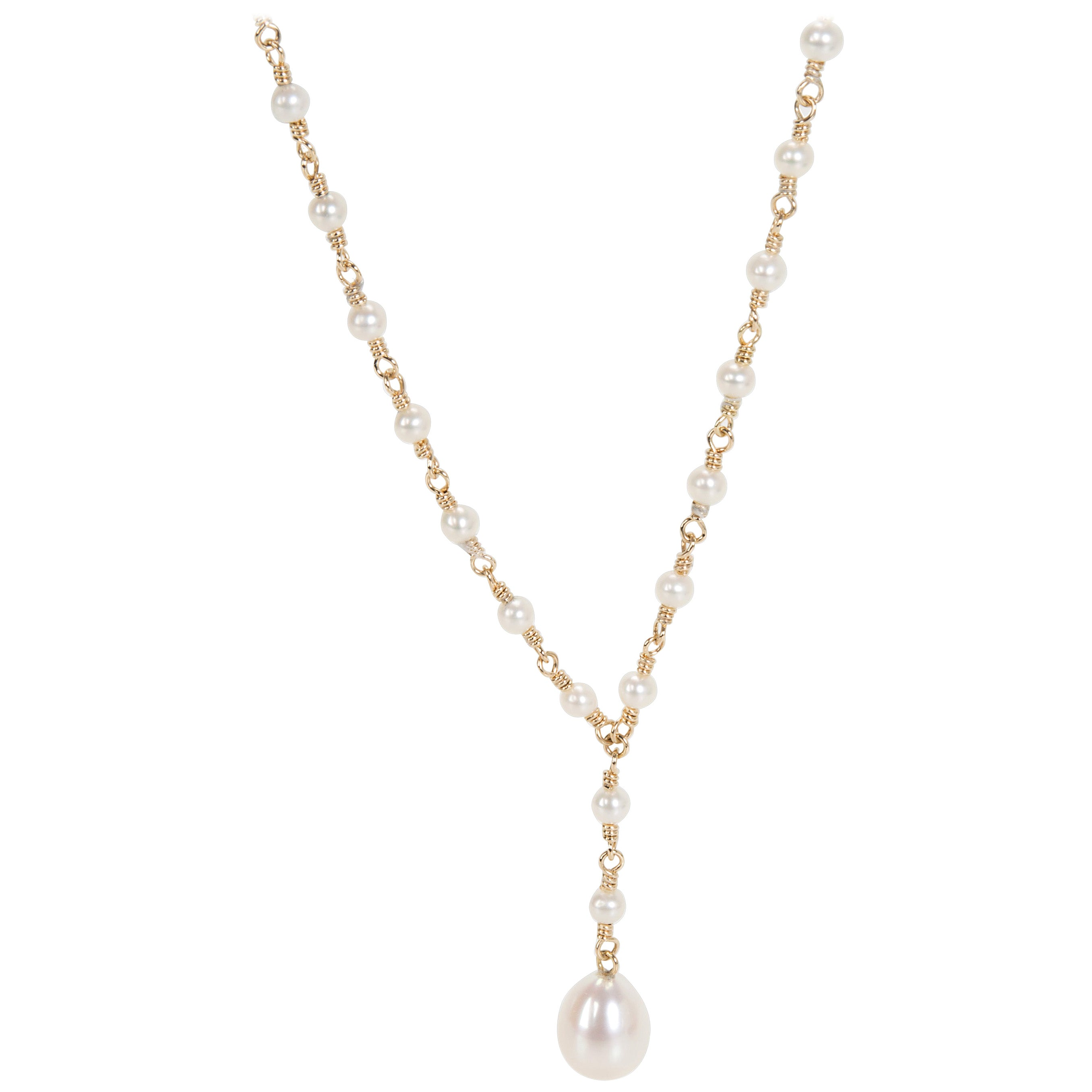 Tiffany & Co. Pearl Necklace in 18 Karat Yellow Gold
